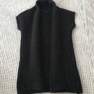 Alpaca open short sleeve cardigan